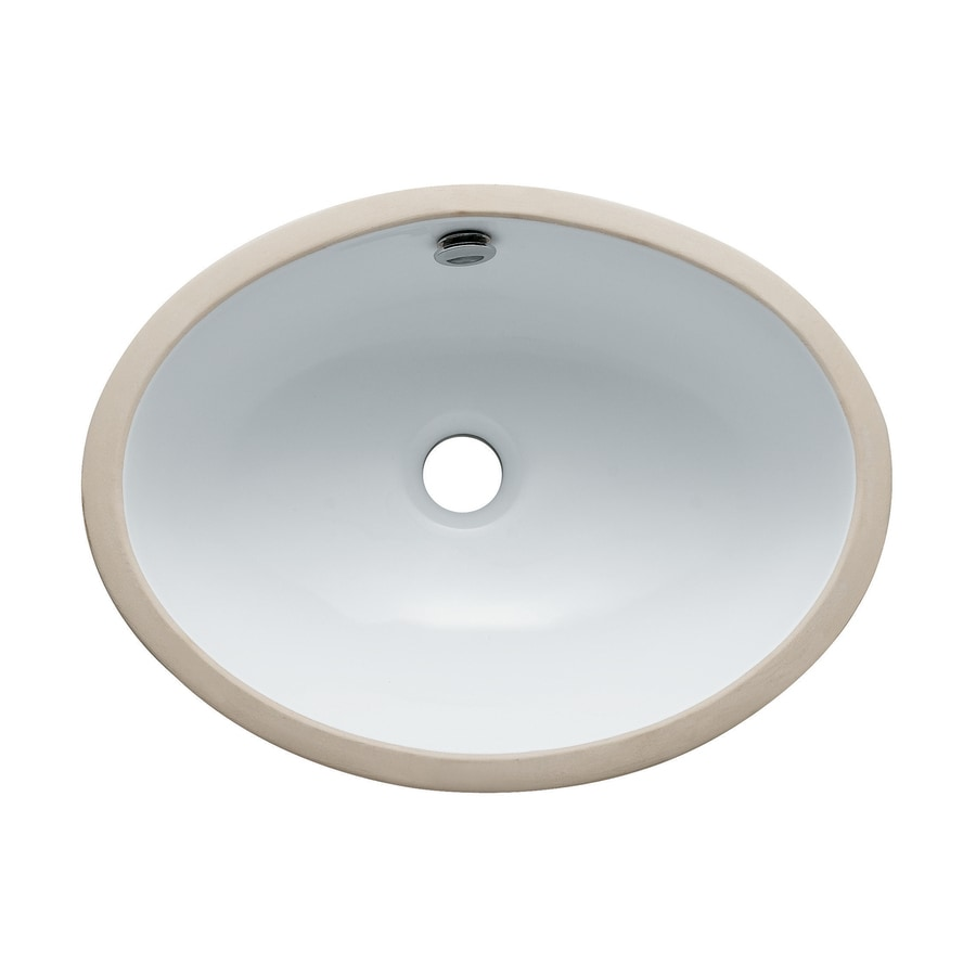 Shop Elements Of Design Marina White Undermount Oval Bathroom Sink With Overflow At