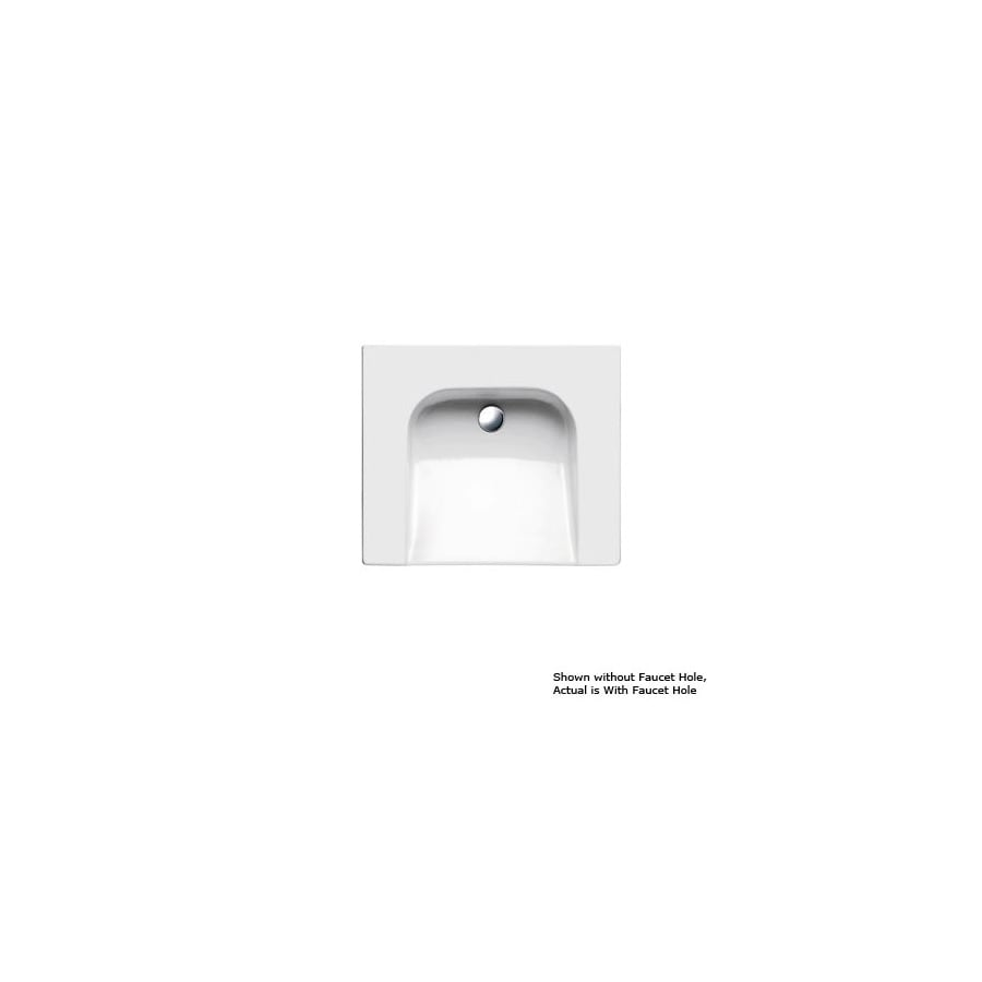 WS Bath Collections Gsi White Wall-Mount Rectangular Bathroom Sink with Overflow