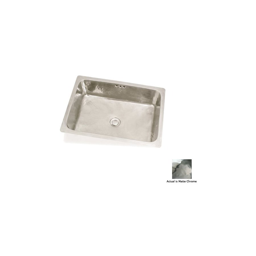 Shop Ws Bath Collections Metal Matte Chrome Copper Rectangular Bathroom Sink With Overflow At