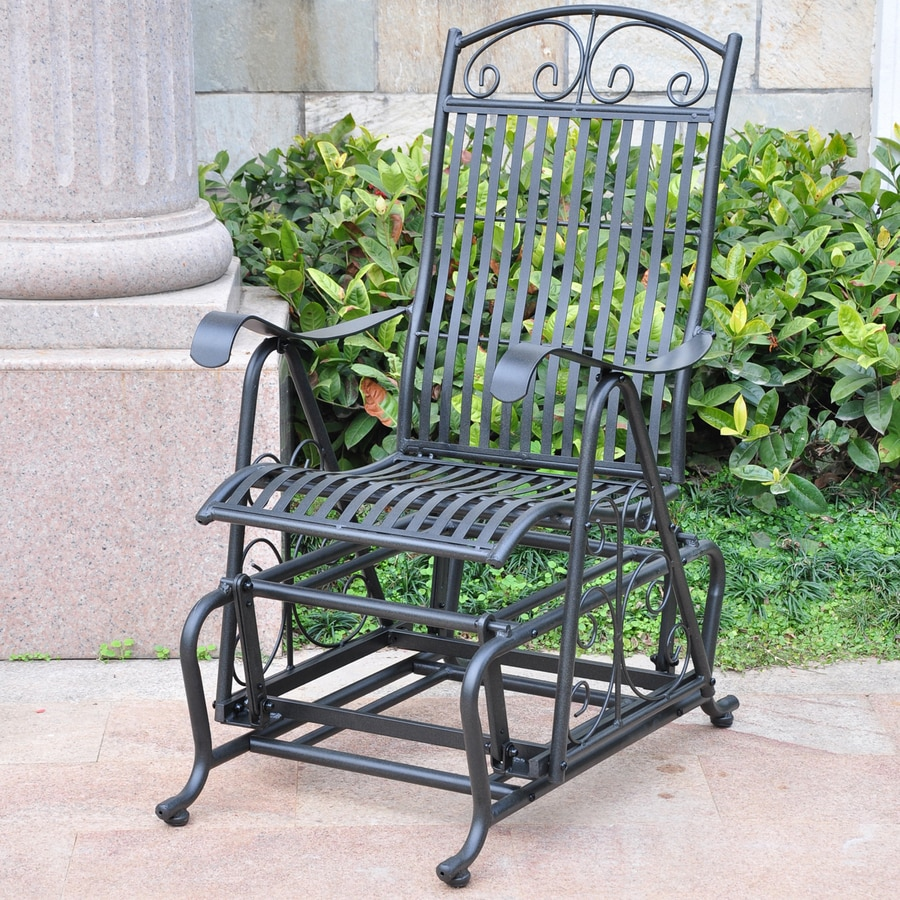 International Caravan Antique Black Porch Glider At Lowes Com