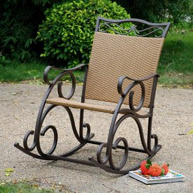 International Caravan Valencia Rocking Chair With Wicker Seat