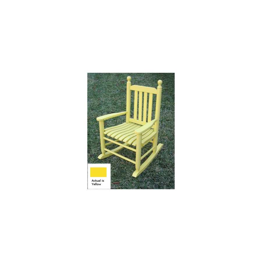 International Caravan Yellow Outdoor Rocking Chair