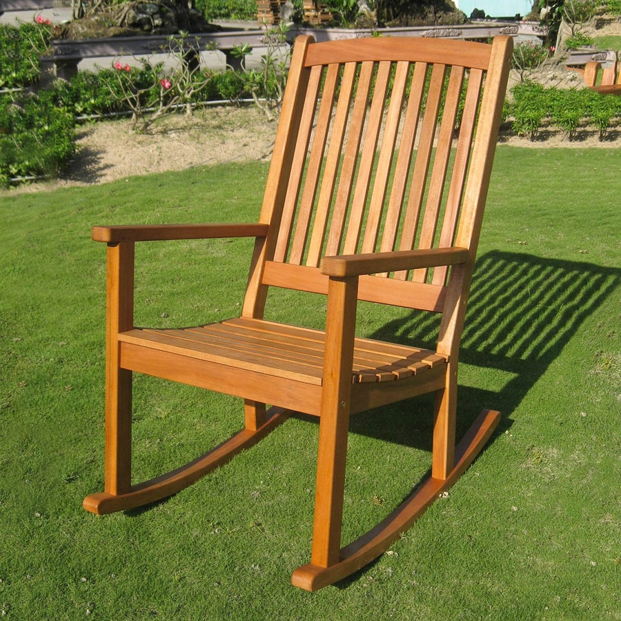International Caravan Royal Tahiti Balau Patio Rocking Chair