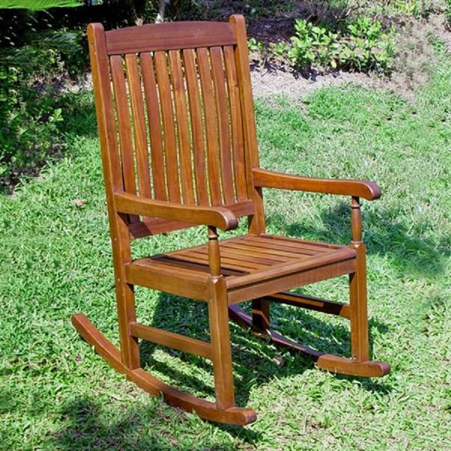 shop international caravan balau patio rocking chair at