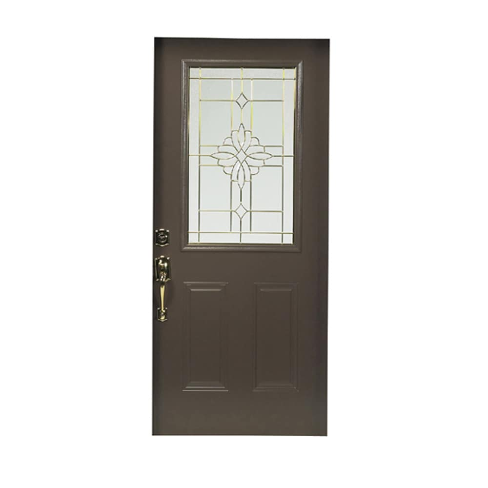 Shop reliabilt 36 laurel half lite steel entry door unit for Lowes exterior doors