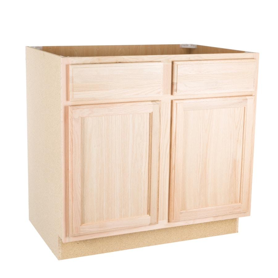 Project Source 36in W X 345in H 24in D Unfinished Cabinet Drawers U59