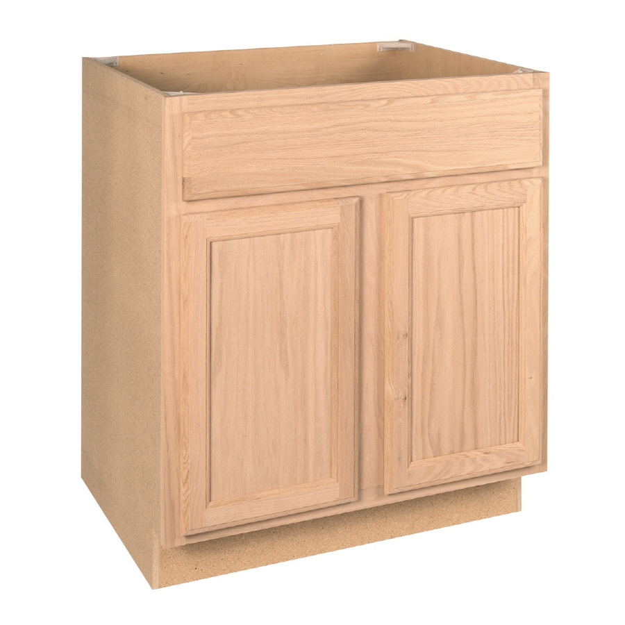 Brown Oak Kitchen Cabinets: Project Source 30-in W X 34.5-in H X 24-in D Unfinished