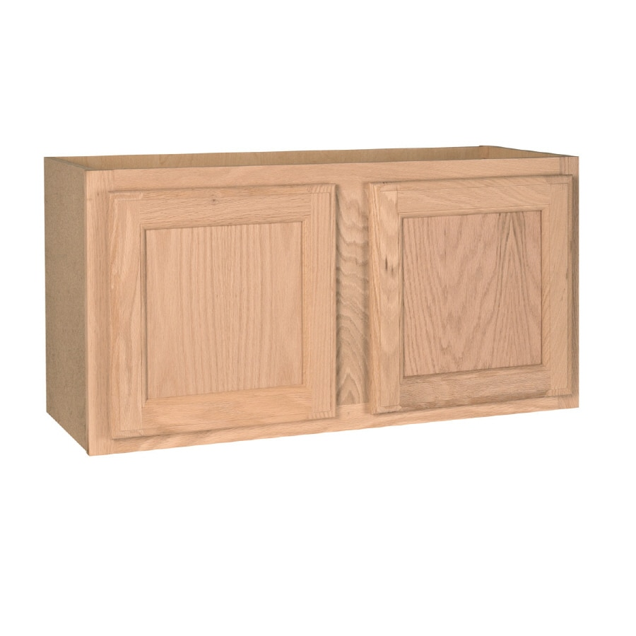 shop kitchen cabinets at lowes com project source 30 in12 in h x 12 in d unfinished oak door