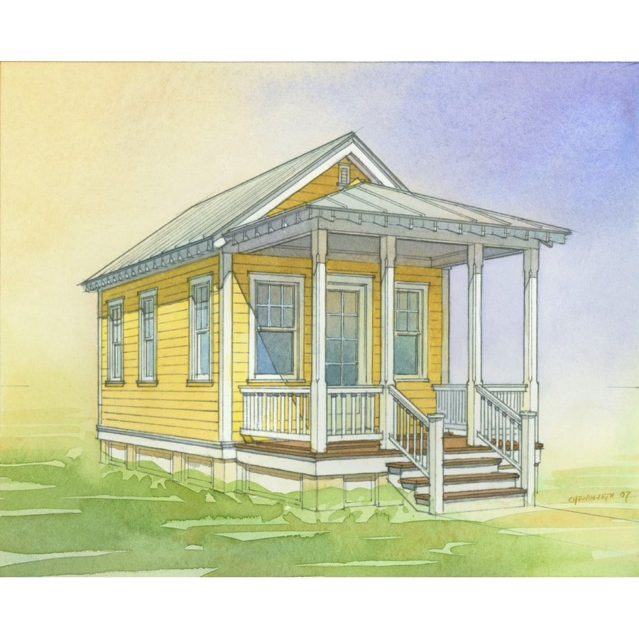 Shop lowe 39 s katrina cottage kc 308 plan set of 6 plans for Katrina cottage lowes