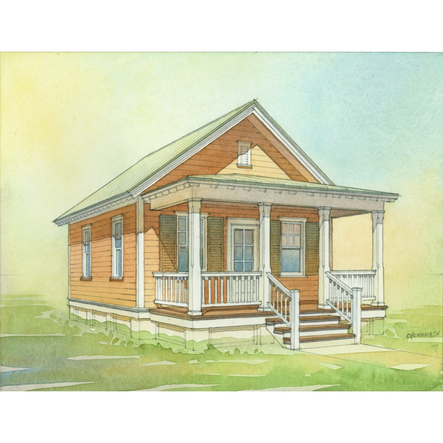 Lowes cottages shop lowe s katrina cottage kc 480 plan set for Lowes cabins kits