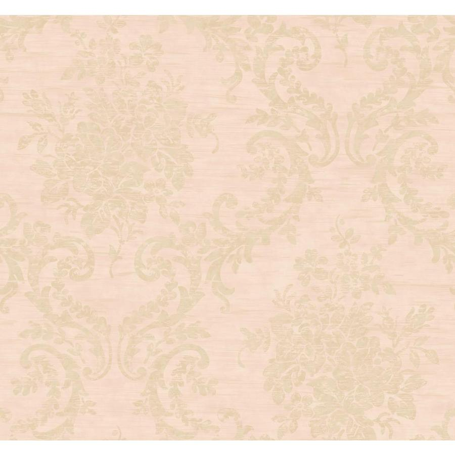 Inspired By Color Pinkand Purple Book Pink and Tan Paper Damask Wallpaper