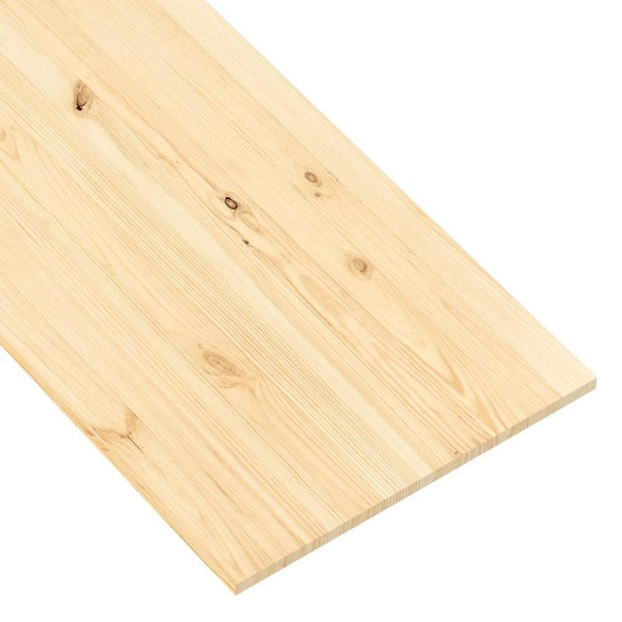 (Actual: 0.74-in x 19.98-in x 8-ft) Euro Spruce Board