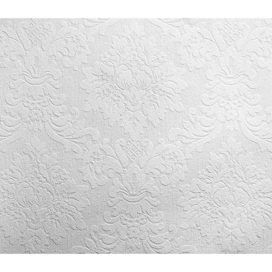 Inspired By Color Black and White Book White Paper Paintable Textured Damask Wallpaper