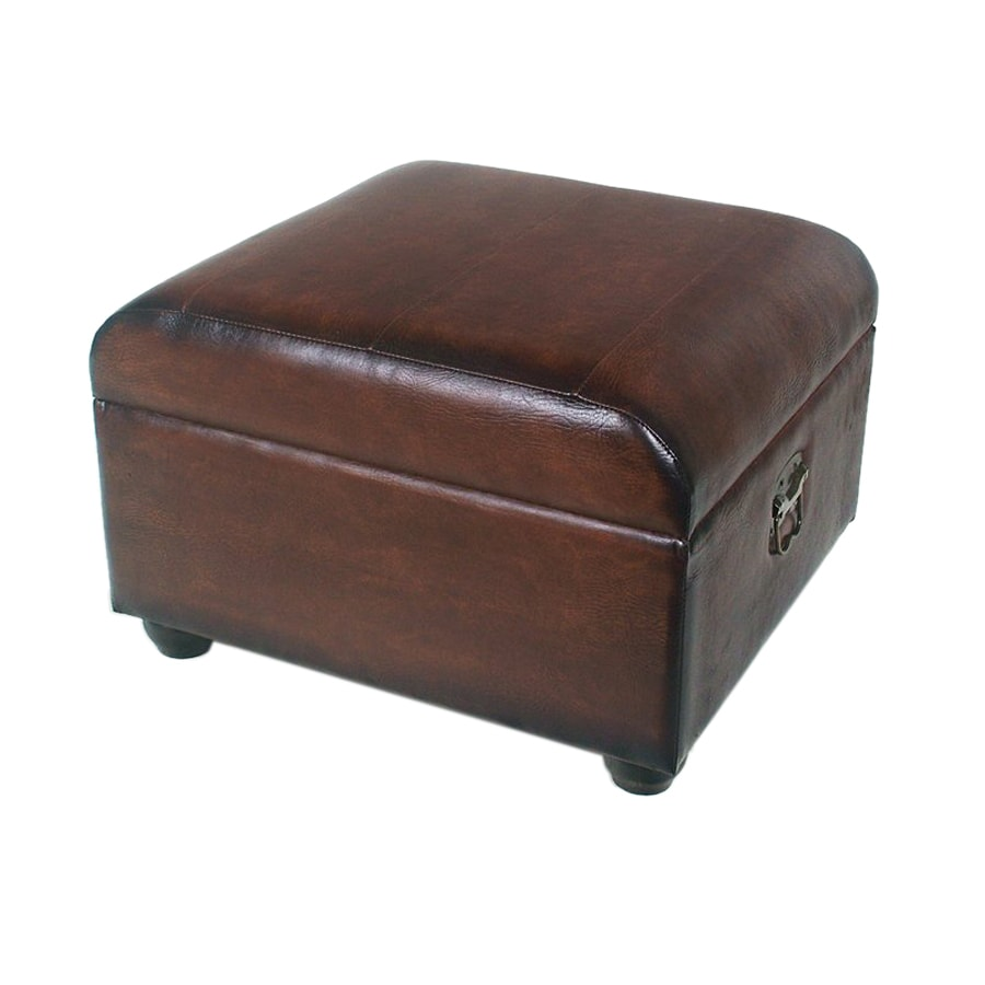 Shop international caravan istanbul brown faux leather for What is an ottoman for