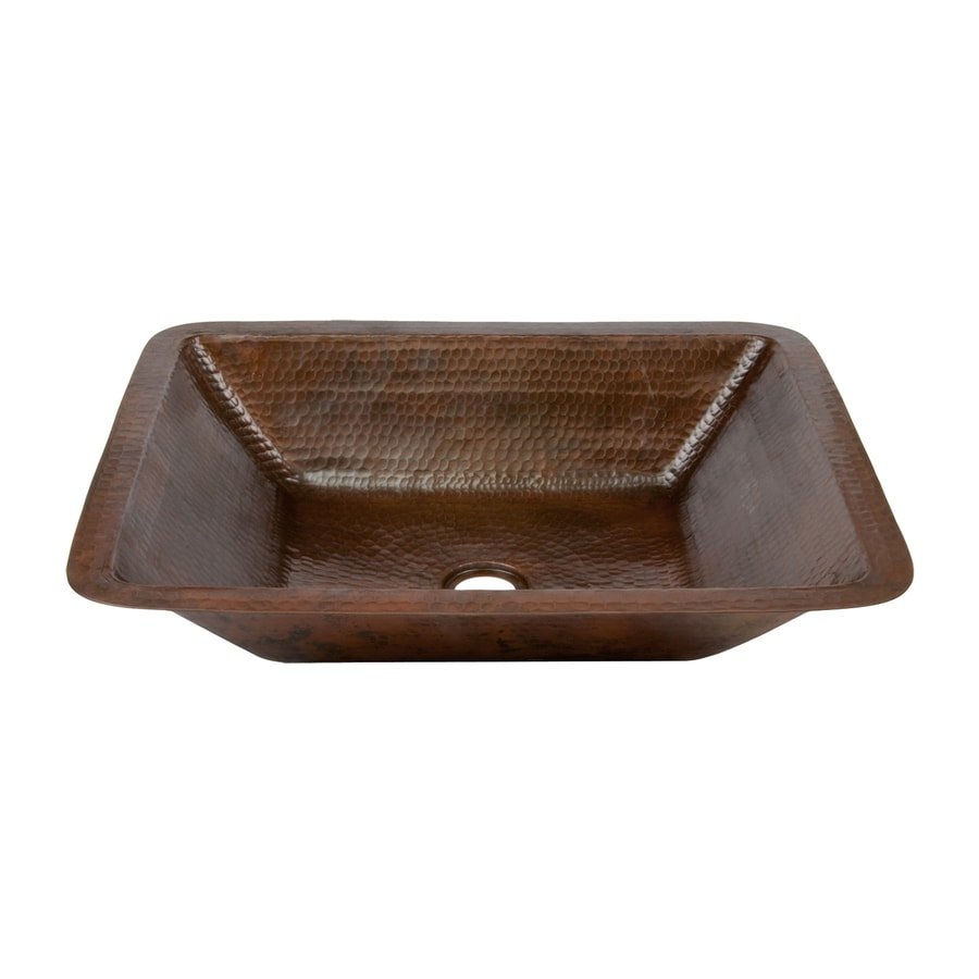 Premier Copper Products Oil-Rubbed Bronze Copper Undermount Rectangular Bathroom Sink