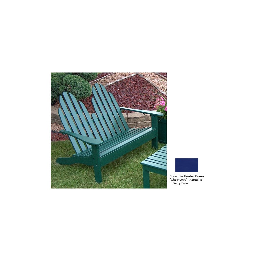 Prairie Leisure Design 35-in W x 50-in L Berry Blue Pine Patio Bench