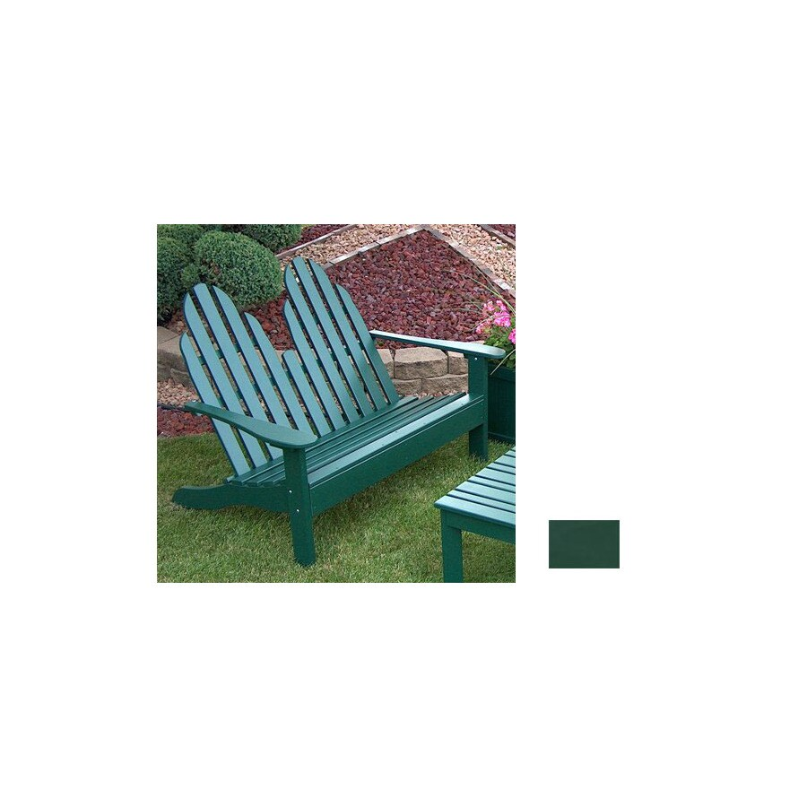 Prairie Leisure Design 35-in W x 50-in L Hunter Green Pine Patio Bench