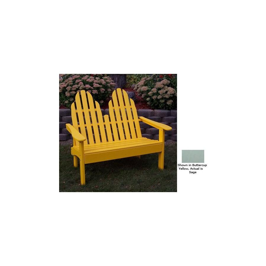 Prairie Leisure Design 28-in W x 52-in L Sage Pine Patio Bench