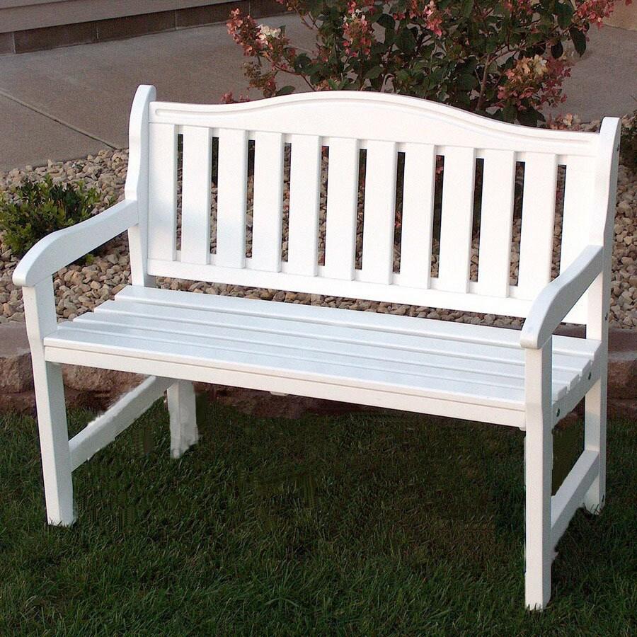 Nice Prairie Leisure Design Garden 19 In W X 44 In L Satin White Pine
