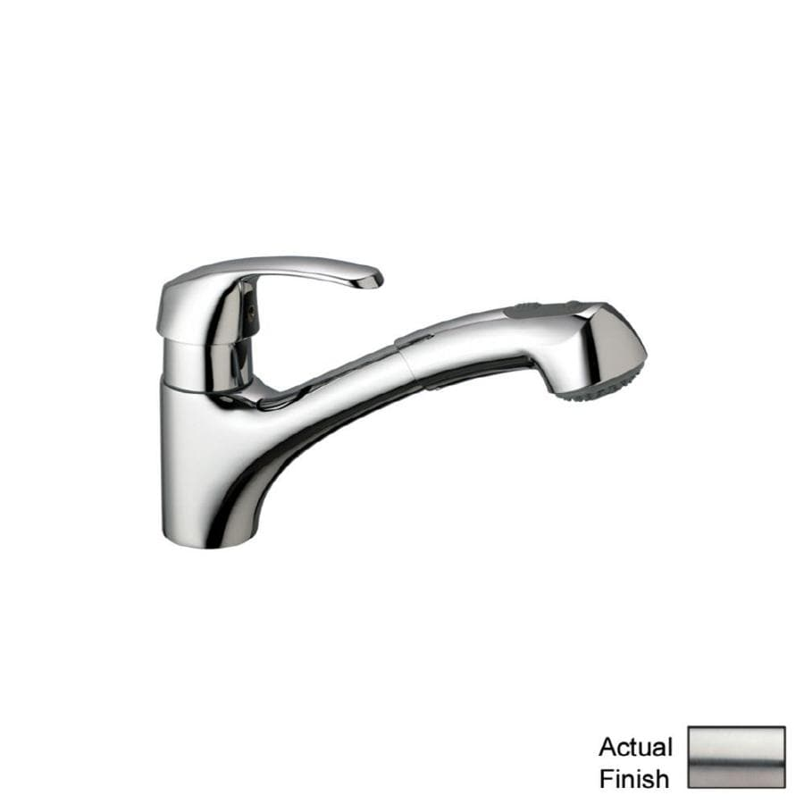 GROHE Alira Stainless Steel 1-Handle Pull-Out Kitchen Faucet