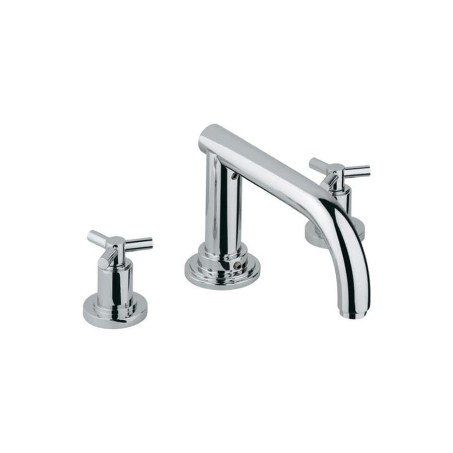 GROHE Atrio Chrome 2-Handle Fixed Deck Mount Bathtub Faucet
