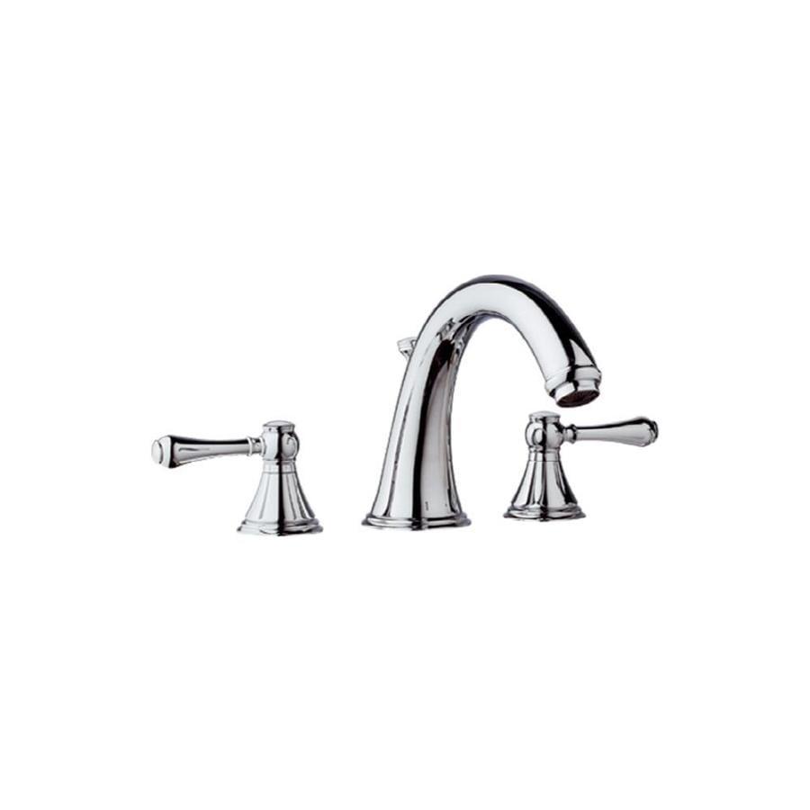 GROHE Geneva Chrome 2-Handle Adjustable Deck Mount Bathtub Faucet
