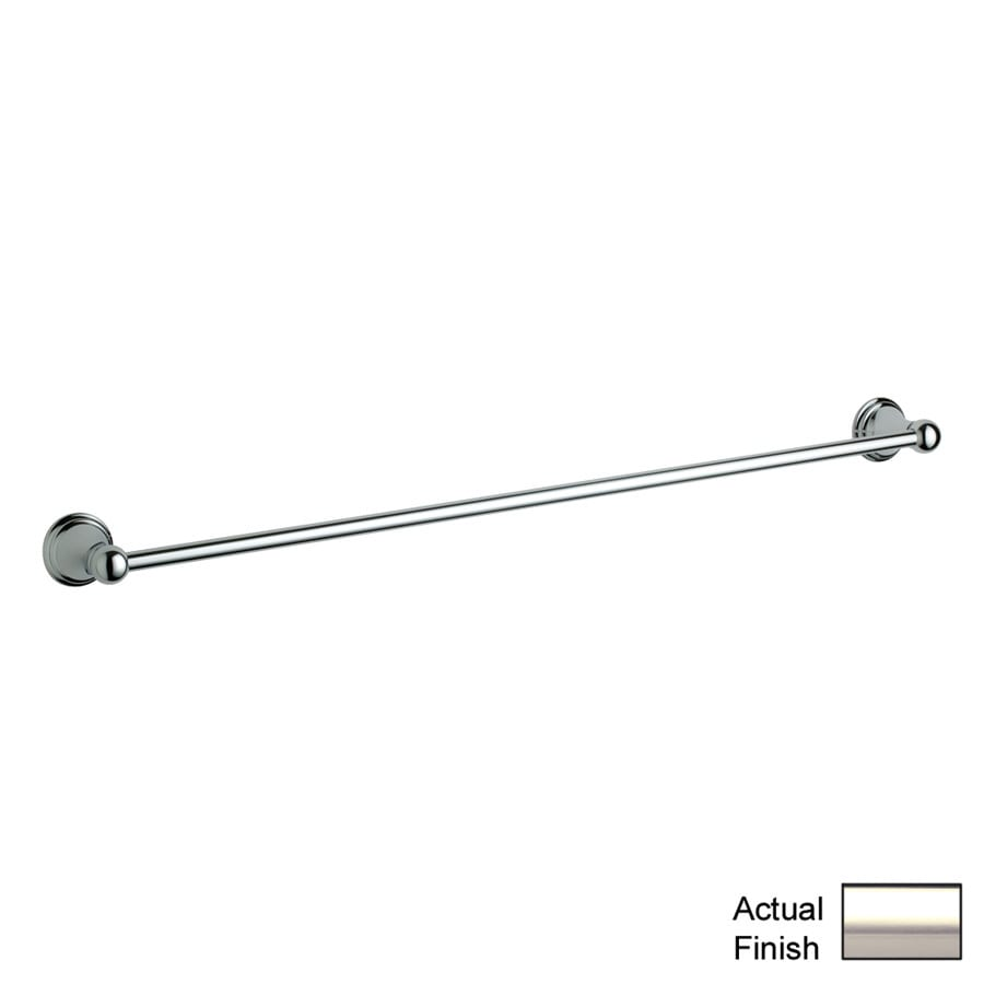 GROHE Geneva Polished Nickel Single Towel Bar (Common: 24-in; Actual: 26.3125-in)