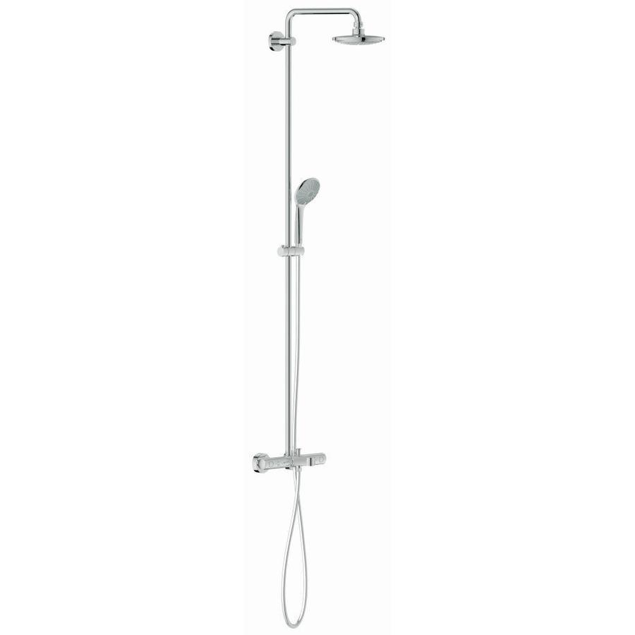 GROHE Euphoria Chrome 1-Handle Bathtub and Shower Faucet with Single Function Showerhead