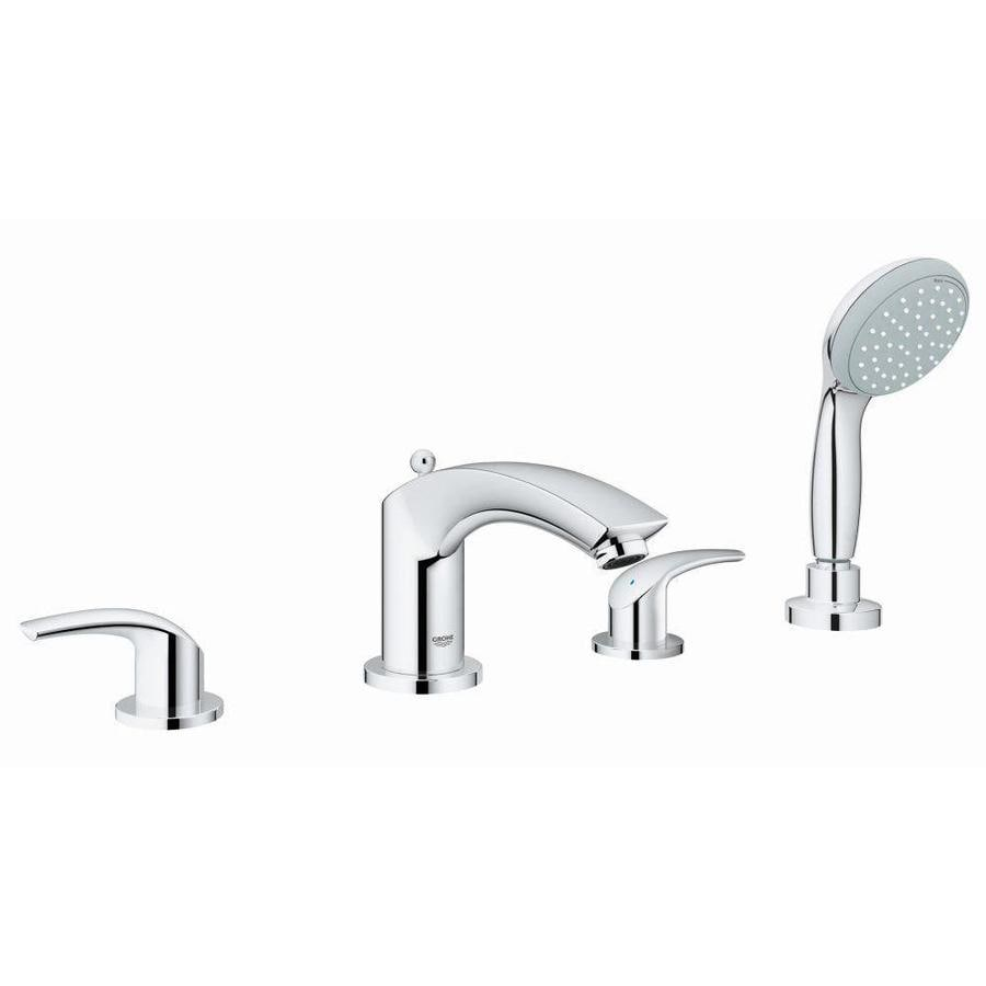 Grohe Eurosmart Chrome 2 Handle Deck Mount Bathtub Faucet