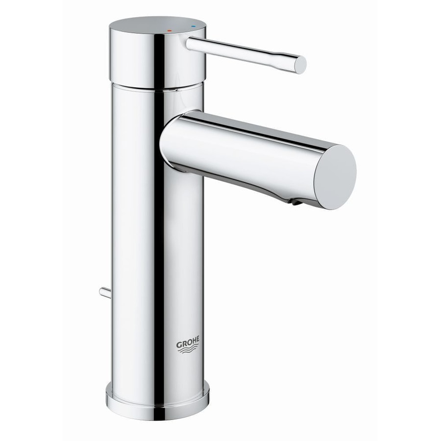 shop grohe essence chrome 1 handle single hole bathroom faucet at. Black Bedroom Furniture Sets. Home Design Ideas