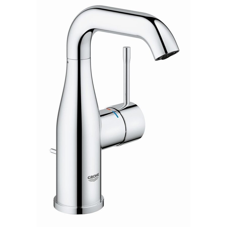 GROHE Essence Chrome 1-Handle Single Hole WaterSense Bathroom Faucet (Drain Included)