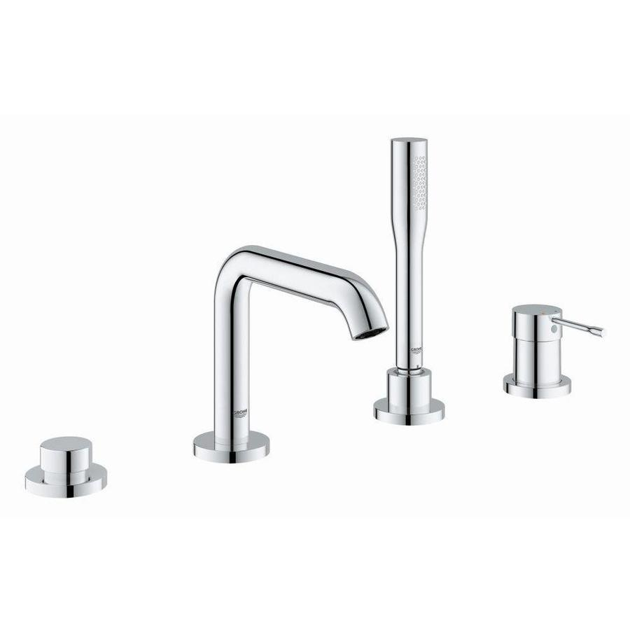 shop grohe essence chrome 1 handle fixed deck mount bathtub faucet at. Black Bedroom Furniture Sets. Home Design Ideas