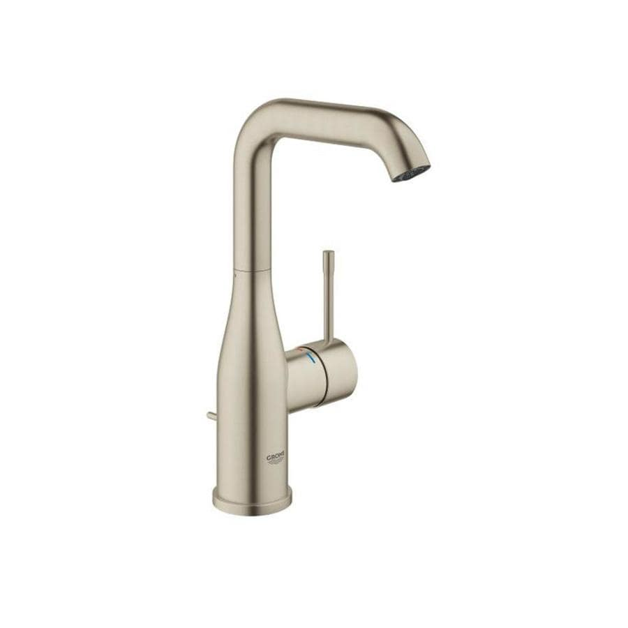 shop grohe essence brushed nickel 1 handle single hole bathroom faucet at. Black Bedroom Furniture Sets. Home Design Ideas