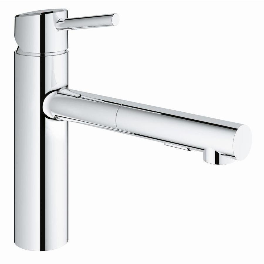 shop grohe concetto chrome 1 handle deck mount pull out kitchen faucet at. Black Bedroom Furniture Sets. Home Design Ideas