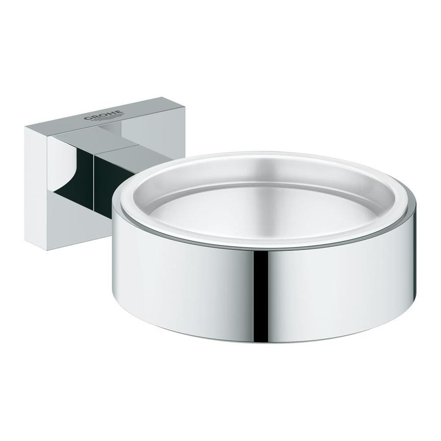 shop grohe essentials cube chrome brass soap dish at. Black Bedroom Furniture Sets. Home Design Ideas