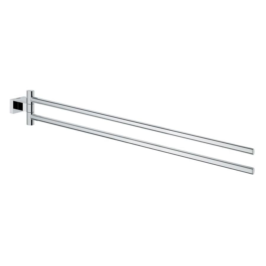 GROHE Essentials Cube Chrome Double Towel Bar (Common: 18-in Double; Actual: 17.2835-in)