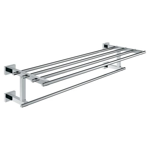 Grohe Essentials Cube Chrome Wall Mount Towel Rack In The Towel Racks Department At Lowes Com