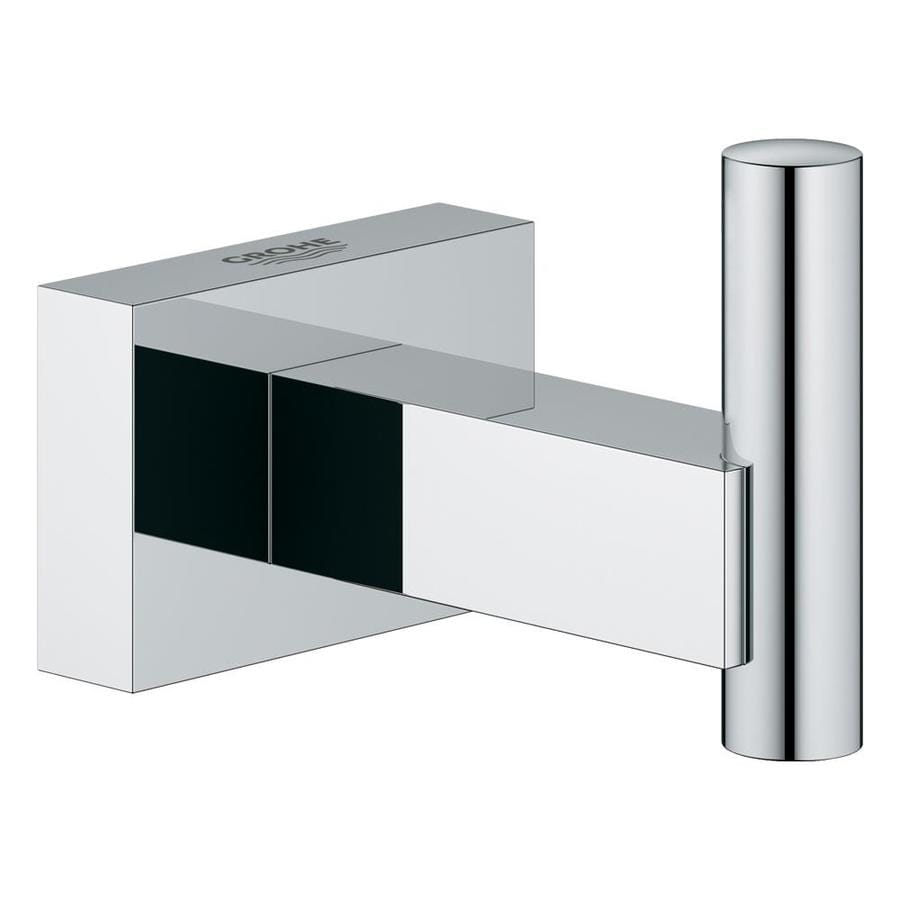 GROHE Essentials Cube 1-Hook Chrome Robe Hook