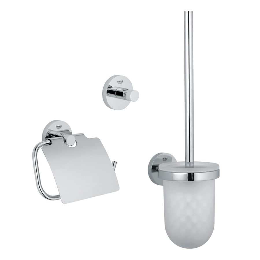 New  Polished Chrome Decorative Bathroom Hardware Set At Lowescom