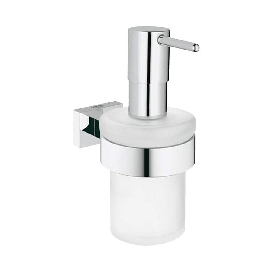 GROHE Essentials Cube Chrome Soap and Lotion Dispenser