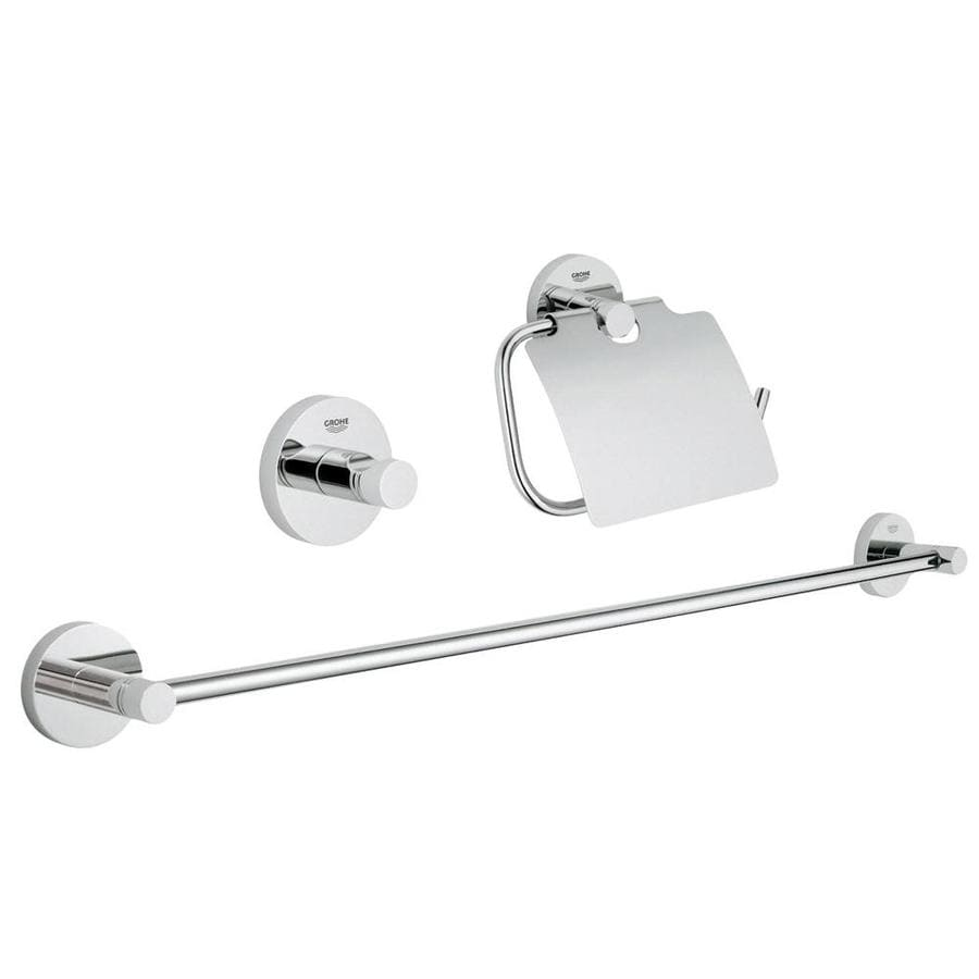 GROHE Essentials Chrome Decorative Bathroom Hardware Set