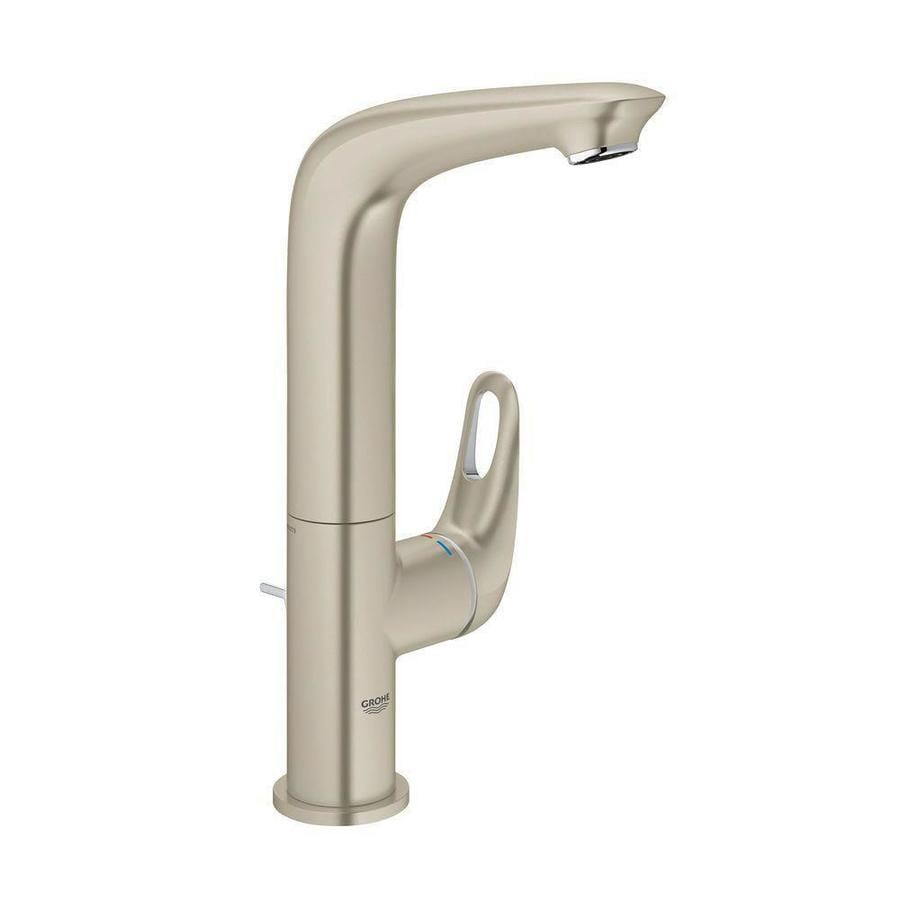 Grohe eurostyle brushed nickel 1 handle single hole - Single hole bathroom faucets brushed nickel ...