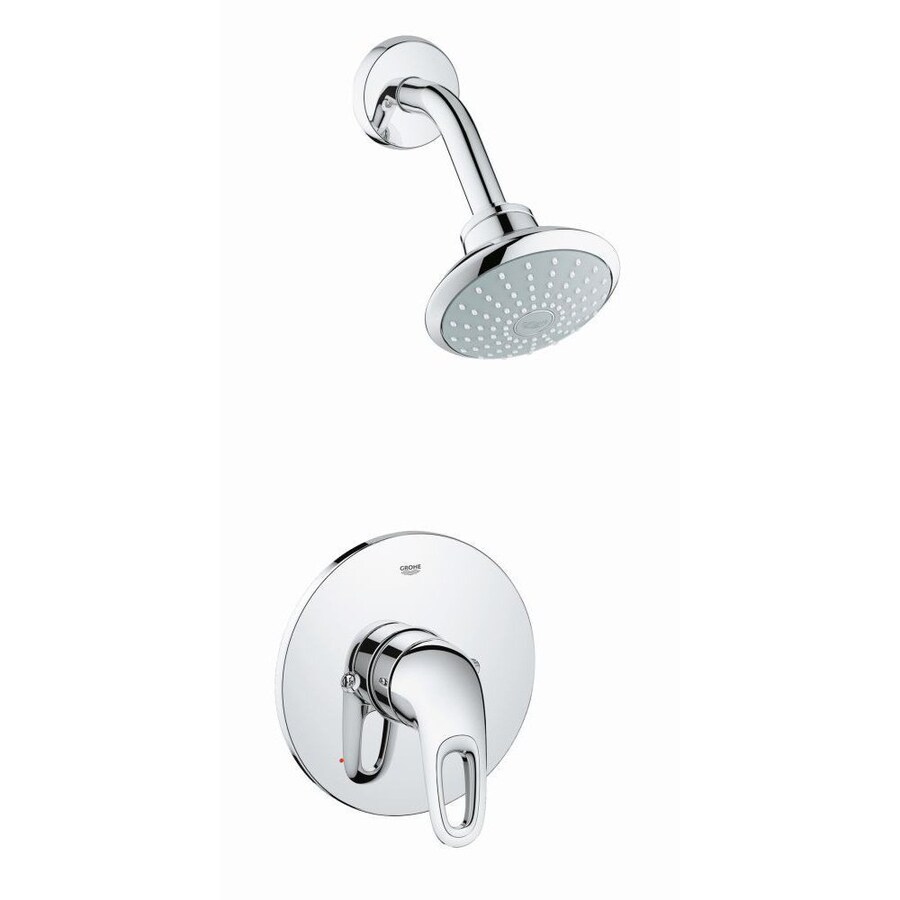 GROHE Eurostyle 4.625-in 2.0-GPM (7.6-LPM) Chrome WaterSense Showerhead