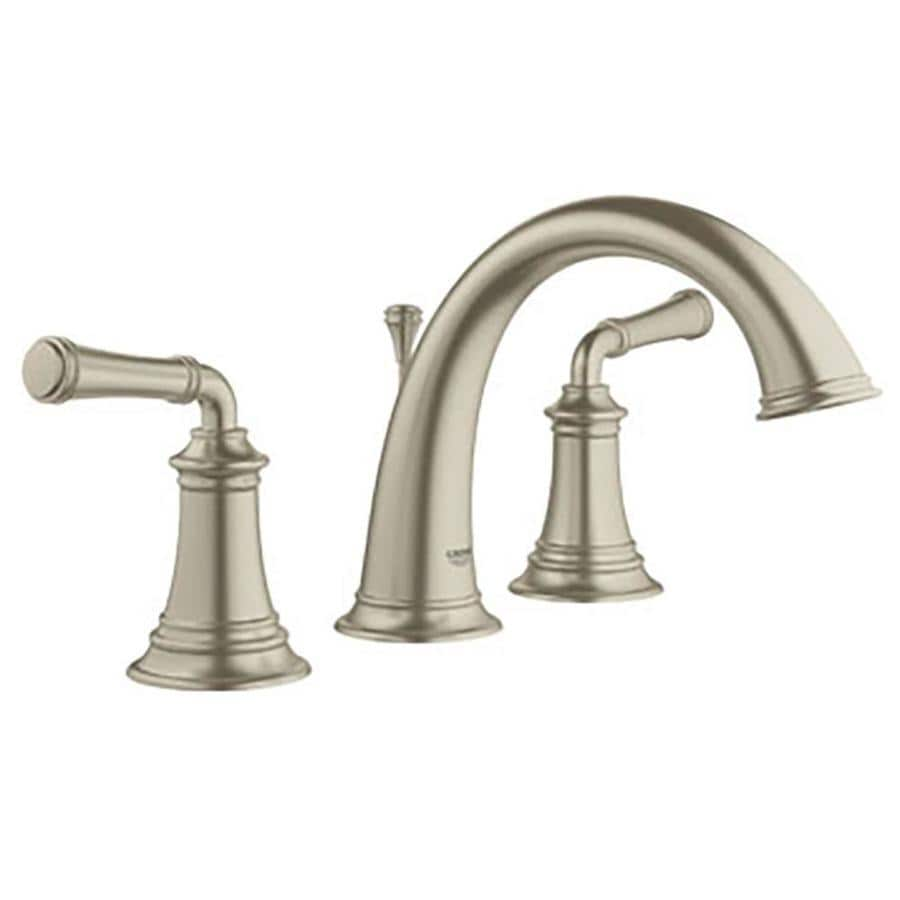 3 piece bathroom faucet set. grohe gloucester brushed nickel 2-handle widespread watersense bathroom faucet (drain included) 3 piece set