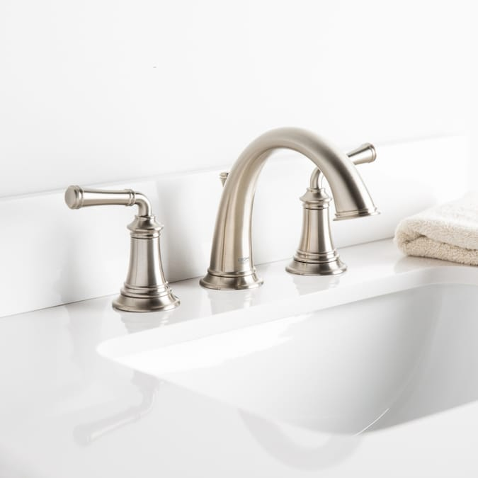 Grohe Gloucester Brushed Nickel 2 Handle Widespread Watersense Bathroom Sink Faucet With Drain In The Bathroom Sink Faucets Department At Lowes Com