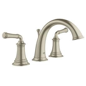 GROHE Gloucester Brushed Nickel 2-Handle Widespread WaterSense Bathroom Faucet (Drain Included)