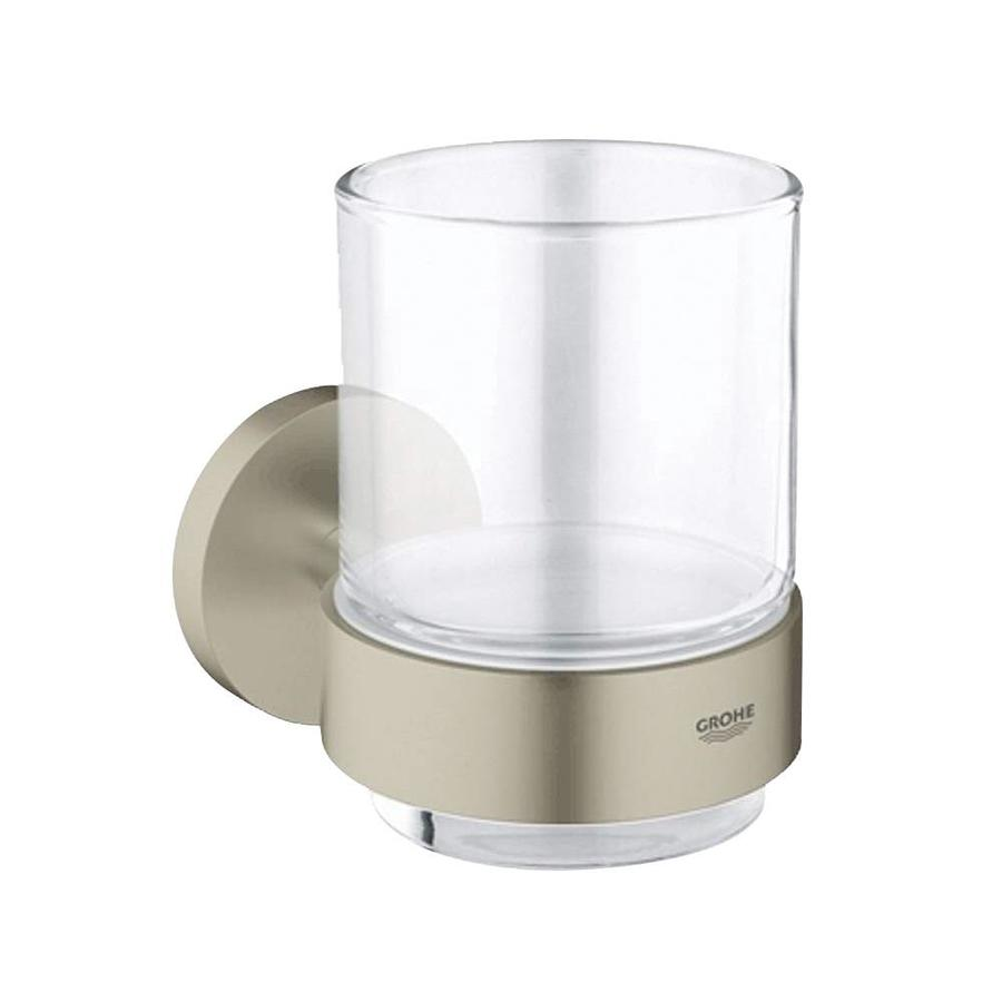 GROHE Essentials Brushed Nickel Glass Tumbler