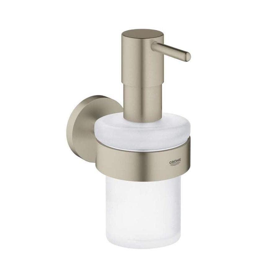 GROHE Essentials Brushed Nickel Soap and Lotion Dispenser