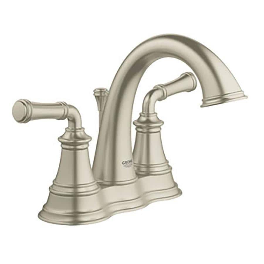 GROHE Gloucester Brushed Nickel 2 Handle 4 in Centerset WaterSense Bathroom  Faucet  Drain. Shop GROHE Gloucester Brushed Nickel 2 Handle 4 in Centerset