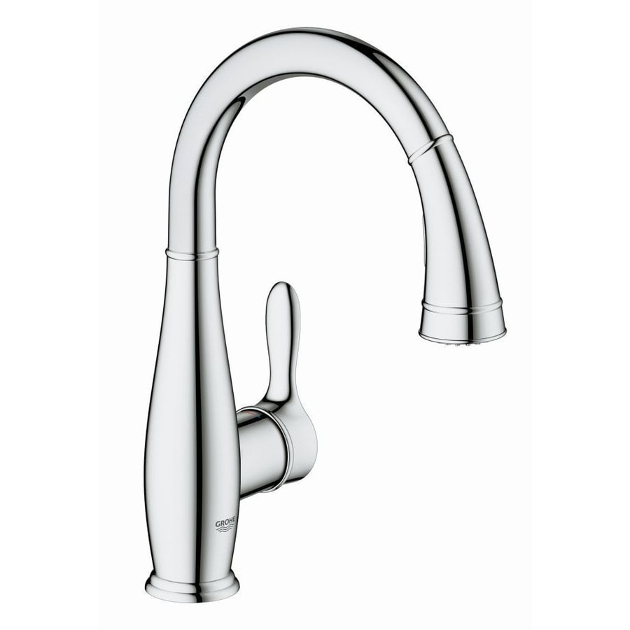 GROHE Parkfield Chrome 1-Handle Deck Mount Pull-Down Bar and Prep Faucet
